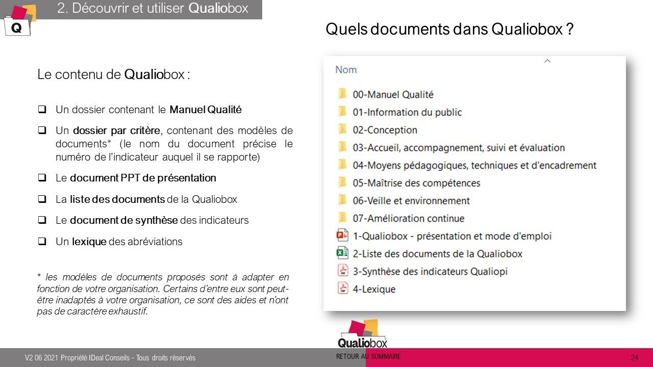 Documents Qualiobox